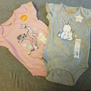 2 size 3 month bodysuits by Jumping Bean